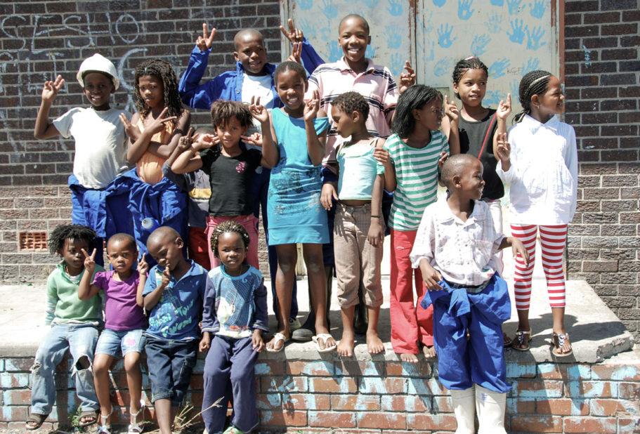 Langa Township kåkstad Sydafrika